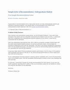 College Admission Recommendation Letter Template Lovely Letter Re Mendation For Co College Recommendation Letter Letter Of Recommendation Teaching Cover Letter