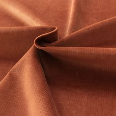 Tissu en velours Milleraies orange rouille- Les Tissus du chien Vert