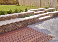 8 hidden costs when landscaping your yard Sloped Backyard, Sloped Garden, Backyard Patio, Backyard Landscaping, Landscaping Ideas, Sunken Patio, Terraced Backyard, Back Garden Design, Garden Landscape Design