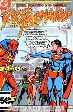 Yet another spin on the machine-who-aspires-to-be-a-man theme; #RedTornado back issues, just added!
