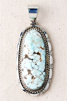 Dry Creek White Turquoise Sterling Silver Pendant~ Dry Creek, my fav Turquoise Pendant, Turquoise Jewelry, Silver Jewelry, Silver Ring, Light Turquoise, Turquoise Stone, Silver Necklaces, Diamond Jewelry, Silver Earrings