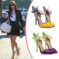 Europe and The United States Vampire Diaries Actress Angela Baby Butterfly Wings High-heeled Ankle Strap Shoes