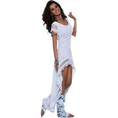 White Darling Power Net Maxi Dress Sale LAVELIQ