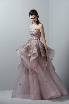 f07ffd6d8a87 Saiid Kobeisy - 3368 Embellished Illusion Jewel Ballgown / Long Prom Dress  (Embellished bodice,. Couture Candy