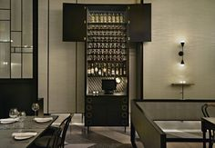 This new Italian restaurant and whisky bar in Jakarta Indonesia was designed by Australian firm Hecker Guthrie.