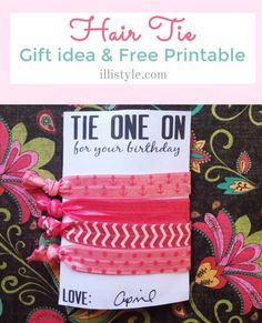 hair tie gift idea with free printable - illistyle.com
