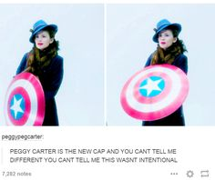 Peggy Carter is the new Cap -tumblr