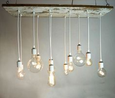 Barnwood chandelier