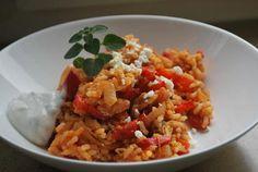 Griechische Puten-Reispfanne  - Rezept
