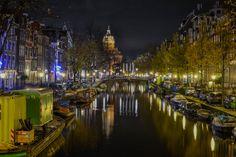 Amsterdam by night by Akis Chatzipapas on 500px