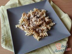 Recept Těstoviny s houbovou omáčkou Tortellini, Penne, Pasta, Oatmeal, Lunch, Bread, Breakfast, Fit, Recipes
