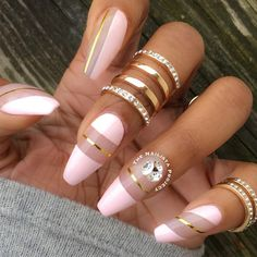 Here are 8 Beautiful Nails That You Need Right Now. These nails will inspire you to get a new manicure right away. Or if you fancy, give yourself some DIY action to make your nails pretty on your very own. We hope you enjoy these nails! Fabulous Nails, Gorgeous Nails, Pretty Nails, Pretty Nail Designs, Nail Art Designs, Nails Design, Crazy Nail Designs, Hair And Nails, My Nails