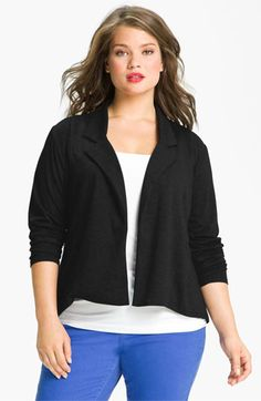 Olivia Moon Knit Blazer (Plus) available at #Nordstrom  NEED this- just the right length