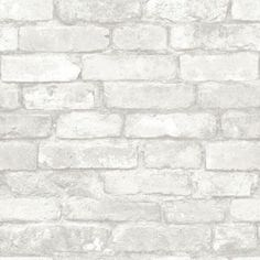 This fantastically realistic Fine Decor Silver Grey Brick Effect Wallpaper will make a great feature in any room! The design is based on a rustic silver grey brick and is printed on to luxury heavyweight paper to ensure durability and a quality finish. Brick Wallpaper Silver, Grey Brick Effect Wallpaper, Brick Design Wallpaper, Grey Wallpaper, Peel And Stick Wallpaper, Rustic Wallpaper, Vinyl Wallpaper, Wallpaper Roll, Charcoal Wallpaper