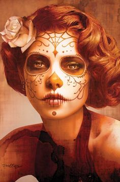 Lowbrow Art Company - Vendimia Day of the Dead Portrait Art Print by Daniel Esparza $19.95