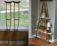 repurpose | Repurpose old wooden crutches!!! Too Cute!