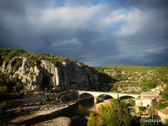 Balazuc, vue sur pont