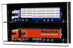 Acrylic Model Wall Display Case for Model Trucks or Scale Motorcycles