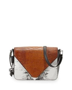 Prisma Lizard-Print Envelope Shoulder Bag, Multicolor  by Alexander Wang at Neiman Marcus.