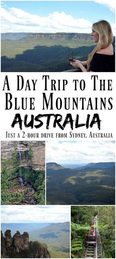 A Day Trip to the Blue Mountains, New South Wales. Find out how you can visit the Blue Mountains in Australia - they're just a two hour drive from Sydney in New South Wales. The Blue Mountains are breathtakingly beautiful and well worth visiting! Australia Travel Guide, Visit Australia, Australia 2018, Victoria Australia, South Australia, Western Australia, Australia Honeymoon, Coast Australia, Queensland Australia