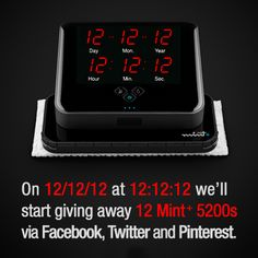 """Like"" and share this for a chance to win a Mint+ 5200! @iRobot is giving away 12 on #121212!"