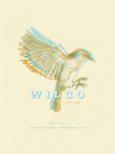 Wilco gig poster