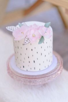 Love the smash cake! Wild & Free Bohemian 1st Birthday Party via Kara's Party Ideas KarasPartyIdeas.com (44)