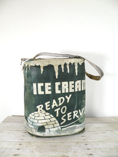 vintage ice cream cooler by experimental vintage on Etsy
