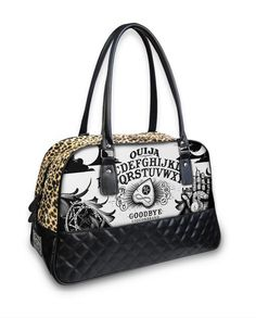057e25ae13 Liquor Brand Ouija Board Occult Punk Goth Overnight Bowler Bag Purse B -CQ-028