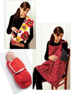 Kwik Sew Swaddler Sling Carrier & Nursing Cover Pattern By The Each Kwik Sew Patterns, Baby Patterns, Clothing Patterns, Baby Sewing Projects, Sewing For Kids, Sewing Tutorials, Sewing Crafts, Diy Projects, Nursing Cover Pattern