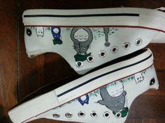 Totoro Shoes Anime Custom Totoro Painted Anime Shoes