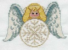 Free Angels With Purpose Cross Stitch Patterns: Snow Angel Ornament