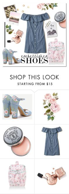 """""""Embellished."""" by smaragda3 ❤ liked on Polyvore featuring Bobbi Brown Cosmetics, Polaroid, Hollister Co., Monsoon, Gorjana and GE"""