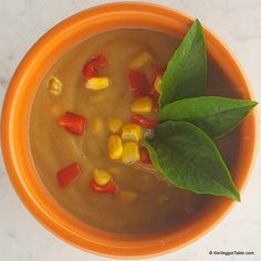Sweet potato chowder with corn, bell peppers, and caramelized onions is a real cold weather treat.