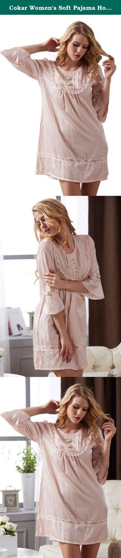 Cokar Women's Soft Pajama Hot Sale Sleep Dress Super Comfor. Finest Soft Fabric: Selection of the finest fabric, this Nightdress Pajamas offers a smooth and ultra-soft feeling for you. It is extremely light weight and comfort, touches your skin as gentle as a feather. Elegant Sexy Alluring Design : This beautiful handmade sleepwear in attractive colors expresses love, fascination, and temptation. It is an idea gift that you cannot miss. Customer service: Send us an email if you have any...