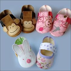 Monkey & Bunny Shoes Pattern