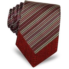 Missoni Micro Zig Zag Woven Silk Narrow Tie (7.710 RUB) ❤ liked on Polyvore featuring men's fashion, men's accessories, men's neckwear, ties and red
