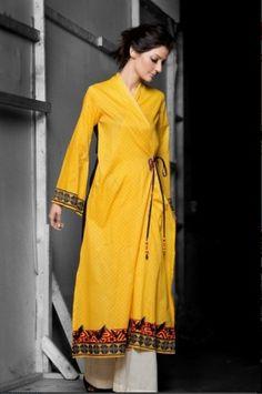 Angrakha Style Long Top | Mahnoush Summer Collection 2011
