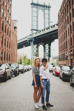 "This Brooklyn neighbourhood (short for ""Down Under the Manhattan Bridge Overpass"") is known to be an ideal spot to snap a photo with the Manhattan Bridge framing the Empire State Building."