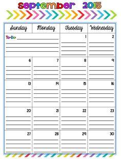 2015-2016 Teacher Calendar FREE