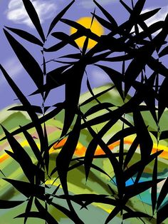 Title:  Bamboo   Artist:  Christine Fournier   Medium:  Digital Art - Digital Painting Ipad With Finger Touch Brush Using Artstudio