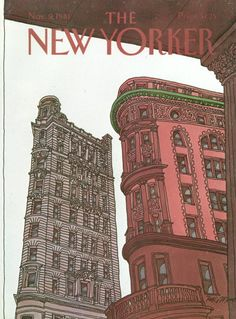 Roxie Munro : Cover art for The New Yorker 2960 - 9 November 1981