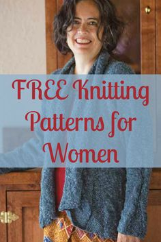 You'll LOVE #knitting these 5 FREE knitting patterns exclusively made for women! #knittingpatterns
