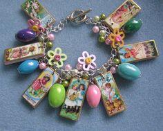 etsy find - vintage easter charm bracelet