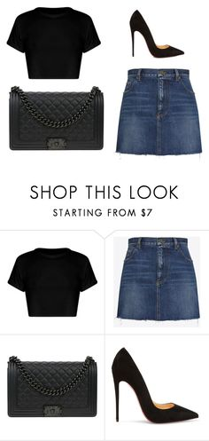 """""""Untitled #157"""" by poonichaya ❤ liked on Polyvore featuring Yves Saint Laurent, Chanel and Christian Louboutin"""