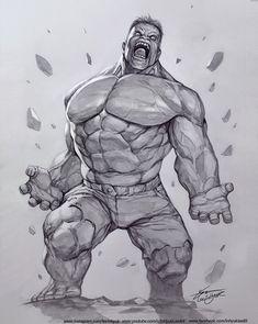 Avengers Drawings, Character Art, Character Design, Hulk Art, Black White Art, Arte Horror, Watercolor Drawing, American Comics, Marvel Art