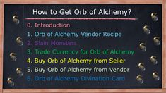 Orb of Alchemy vendor recipe Picking up Orb of Alchemy that dropped Trade Currency for Orb of Alchemy Buy Orb of Alchemy from Seller Buy Orb of Alchemy from Vendor Orb of Alchemy Divination Cards Vendor Recipe, Farming Guide, Divination Cards, Alchemy, Recipes, Ripped Recipes, Cooking Recipes