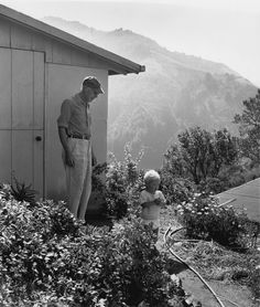 Henry Miller and Son Tony, Big Sur, California by Mary Randlett Henry Miller, Tropic Of Capricorn, Photographs Of People, California Coast, Photo Essay, Big Sur, North West, Illusions, The Past
