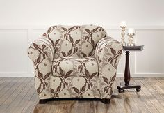 Sure Fit Slipcovers Stretch Dahlia Separate Seat Slipcovers - Chair