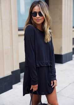All black is always a safe bet.